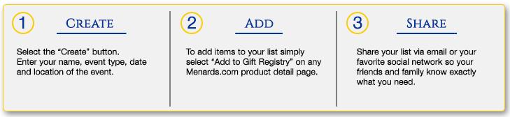 Gift Registry Steps