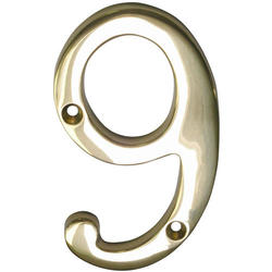 """6"""" Brass House Number"""