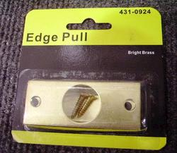 "2-3/8"" x 1"" Brite Brass Door Rectangular Edge Pull"