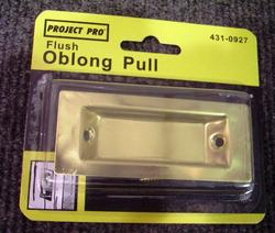 Brite Brass Door Oblong Edge Pull