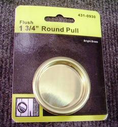 """Brite Brass Door 1-3/4"""" Round Door Pull"""