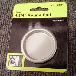"""Satin Nickel Door 1-3/4"""" Round Door Pull"""