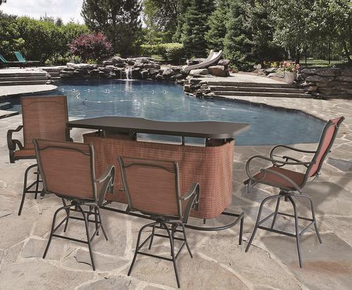 backyard creations 5 piece delmar bar collection at menards