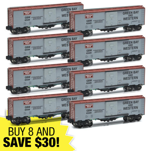 Toys For Trucks Green Bay : Piece green bay and western o gauge boxcar super set at