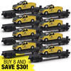 8-Piece O Gauge Flatcar with Chicago and North Western F150 Maintenance Truck Super Set