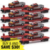 8-Piece O Gauge Flatcar with Santa Fe F150 Maintenance Truck Super Set