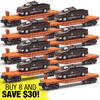 8-Piece O Gauge Flatcar with Pennsylvania F150 Maintenance Truck Super Set
