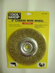 "6"" Coarse Wire Wheel 1/2"" or 5/8"" Arbor"