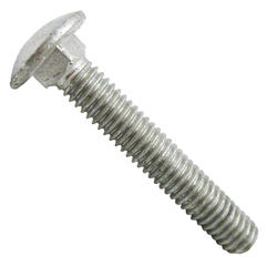 "Grip Fast 1/2"" x 4-1/2"" Hot-Dipped Galvanized Carriage Bolts (4 Pieces)"