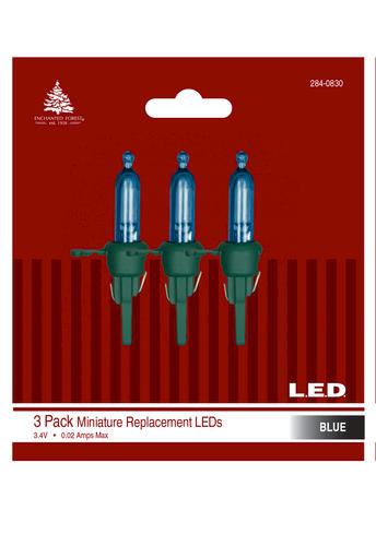 3 Pack Led Mini Replacement Lights Assorted Colors At