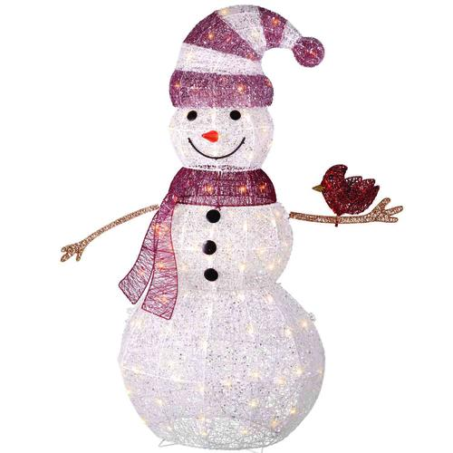 48 Quot Lighted Glitter Snowman At Menards 174
