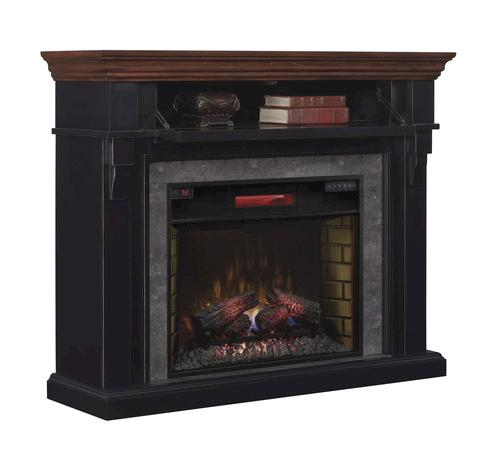 Mayville Electric Fireplace In Cottage Revival Black At Menards