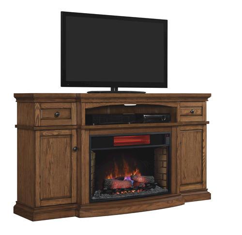 72 Quot Midway Infrared Media Mantel In Premium Oak At Menards 174