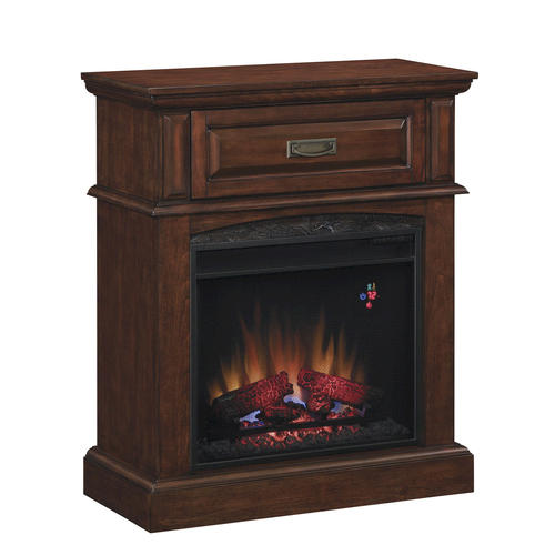 Lakewood fireplace media mantel in premium cocoa at menards for Lakewood wood stove for sale