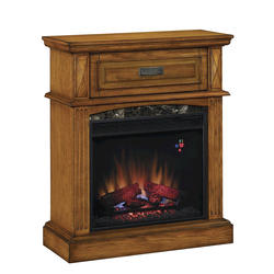 "Lakewood Wall Mantel with 23"" Electric Fireplace, Premium Oak"