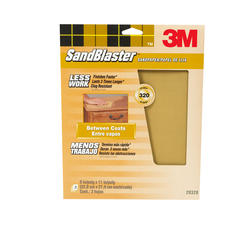 "3M™ SandBlaster™ 9"" x 11"" 320-Grit Sandpaper with No-Slip Grip™ Backing - 3 pcs"