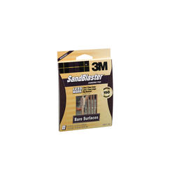 "3M™ SandBlaster™ 4-1/2"" x 5-1/2"" 150-Grit Bare Surfaces Sanding Pad"