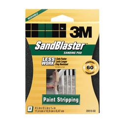 "3M™ SandBlaster™ 4-1/2"" x 5-1/2"" 60-Grit Paint-Stripping Sanding Pad"