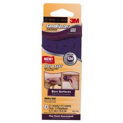 "3M™ SandBlaster™ 2-1/4"" x 5-3/4"" 120-Grit Flexible Sanding Pads - 3-pk"