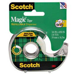 """Scotch® Magic™ 3/4"""" x 650"""" Tape with Dispenser"""