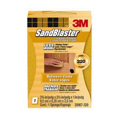 """3M™ SandBlaster™ 3.75"""" x 2.5"""" 320-Grit Between-Coats Sanding Sponge"""