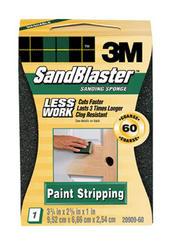 "3M™ SandBlaster™ 3.75"" x 2.5"" 60-Grit Paint-Stripping Sanding Sponge"