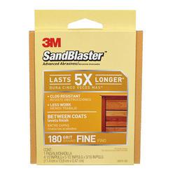 """3M™ SandBlaster™ 4-1/2"""" x 5-1/2"""" 180-Grit Between-Coats Sanding Pad"""
