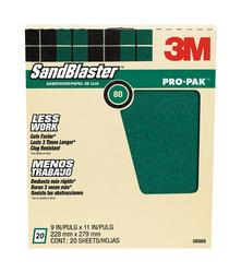 """3M™ SandBlaster™ Pro-Pak™ 9"""" x 11"""" 120-Grit Sandpaper - 20 pcs"""