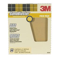 """3M™ SandBlaster™ Pro-Pak™ 9"""" x 11"""" 320-Grit Sandpaper - 20 pcs"""