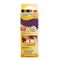 "3M™ SandBlaster™ 2-1/4"" x 5-3/4"" 220-Grit Flexible Finishing Pads - 3-pk"