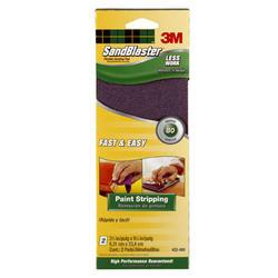 "3M™ SandBlaster™ 3.7"" x 9.25"" 80-Grit Flexible Sanding Pads - 2-pk"