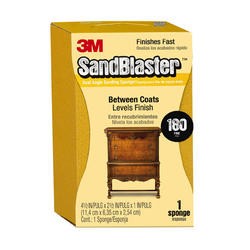 "3M™ SandBlaster™ 4-1/2"" x 2-1/2"" 180-Grit Dual Angle Sanding Sponge"