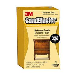 "3M™ SandBlaster™ 4-1/2"" x 2-1/2"" 320-Grit Dual Angle Sanding Sponge"