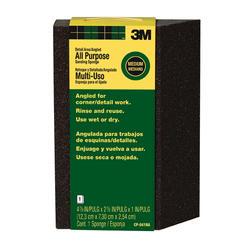 "3M™ 4-7/8"" x 2-7/8"" All-Purpose Medium-Grit Angled Sanding Sponge"