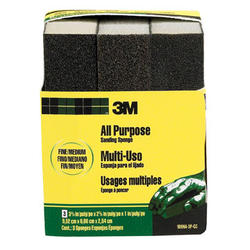 "3M™ 3-3/4"" x 2-5/8"" All-Purpose Fine/Medium-Grit Sanding Sponges - 3-pk"