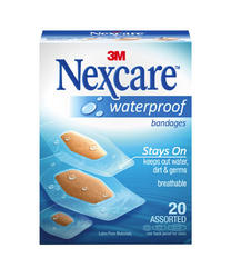 Nexcare™ Assorted Waterproof Bandages - 20-ct
