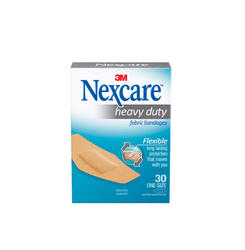 "Nexcare™ 1-1/8"" x 3"" Heavy-Duty Flexible Fabric Bandages - 30-ct"