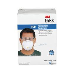 3M™ TEKK Protection™ Paint Sanding Valved Respirator Masks - 10-pk