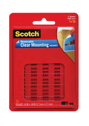 "Scotch® 11/16"" x 11/16"" Removable Clear Mounting Squares - 35-ct"