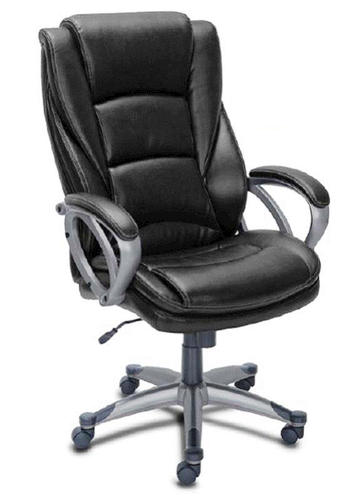 Serta 27 Quot Big And Tall Black Bonded Leather Executive