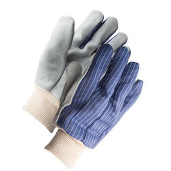 Rugged Wear Unlined Leather Palm Glove - Large