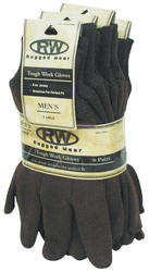Rugged Wear Brown Jersey Glove - Large (6 Pairs)