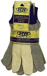 Rugged Wear Canvas Work Glove - Large (6 Pairs)