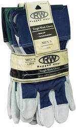Rugged Wear Leather Palm Glove - Large (3 Pairs)