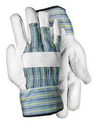 Rugged Wear Split Leather Palm Work Glove - Large