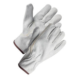 Rugged Wear Suede Leather Work Glove - Large