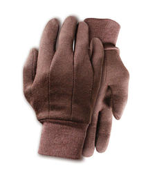 Rugged Wear Brown Jersey Glove - Large