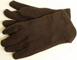 Rugged Wear Lined Brown Jersey Glove - Large