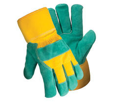 Rugged Wear Pile-Lined Leather-Palm Glove