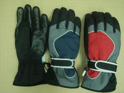 Rugged Wear Leather Palm Ski Glove - One Size Fits All